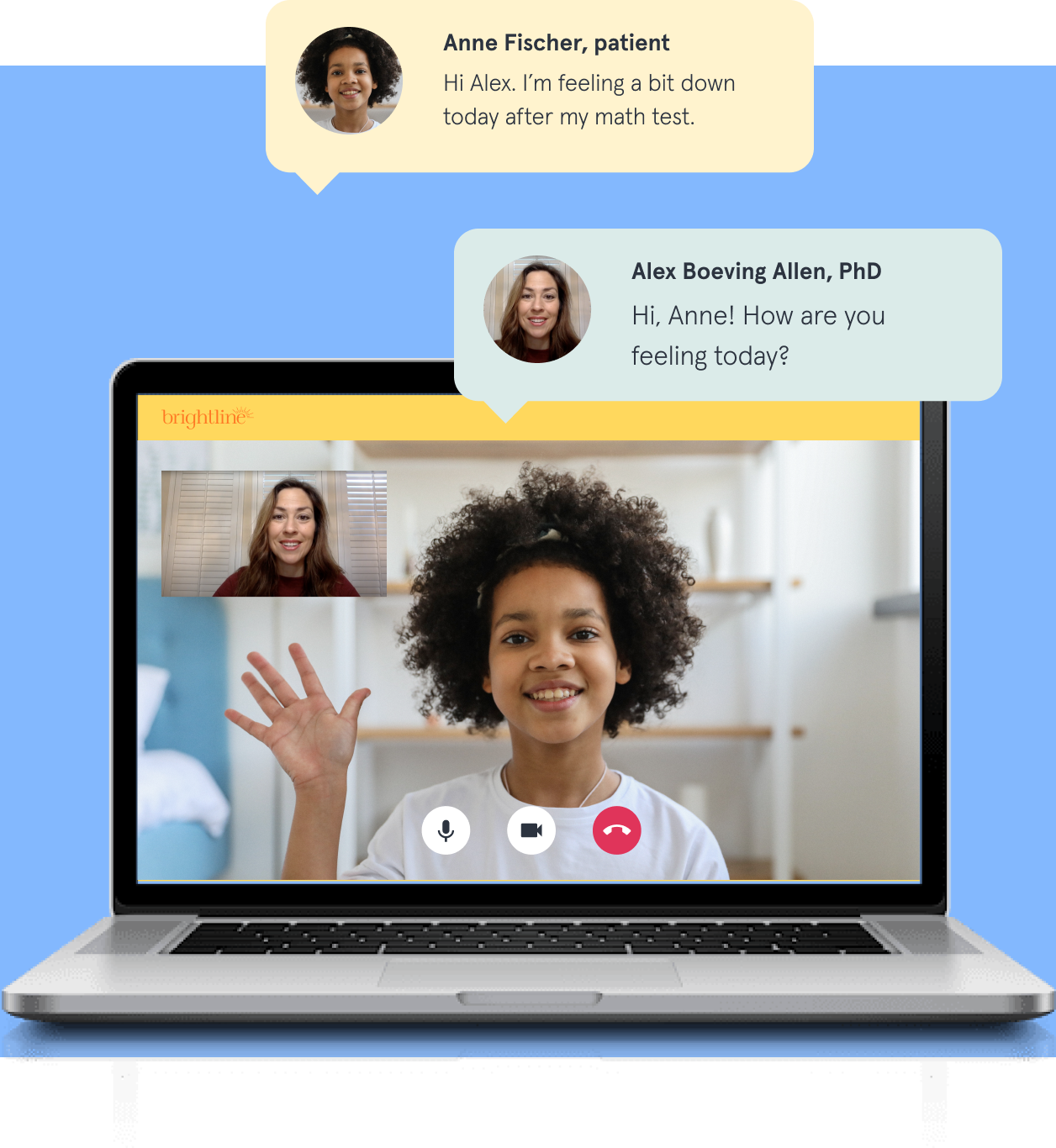 Video chat with text bubbles